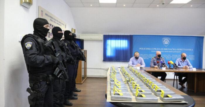 Dubrovačka policija objavila videosnimak zapljene 575 kilograma kokaina